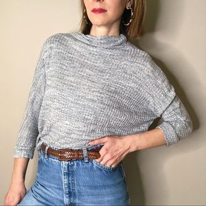 Anthropologie Tops - Anthropologie grey waffle thermal knit top S